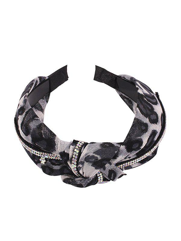 Leopard strass noueuse large Hairband Multi-A