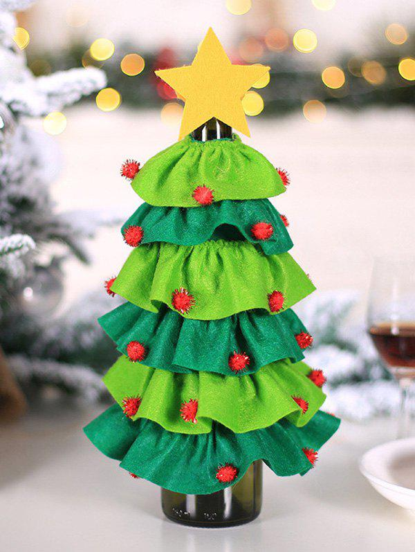 Sale Christmas Tree Star Shape Wine Bottle Cover