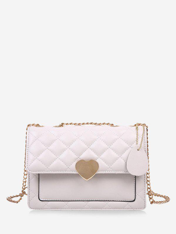 Discount Quilted Heart Chain Crossbody Bag