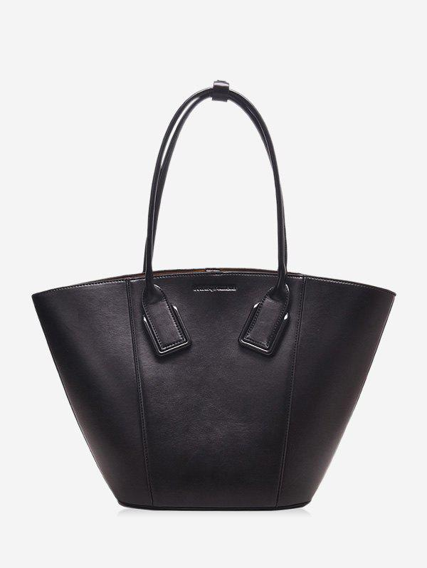 Affordable Solid Color PU Leather Shell Handbag