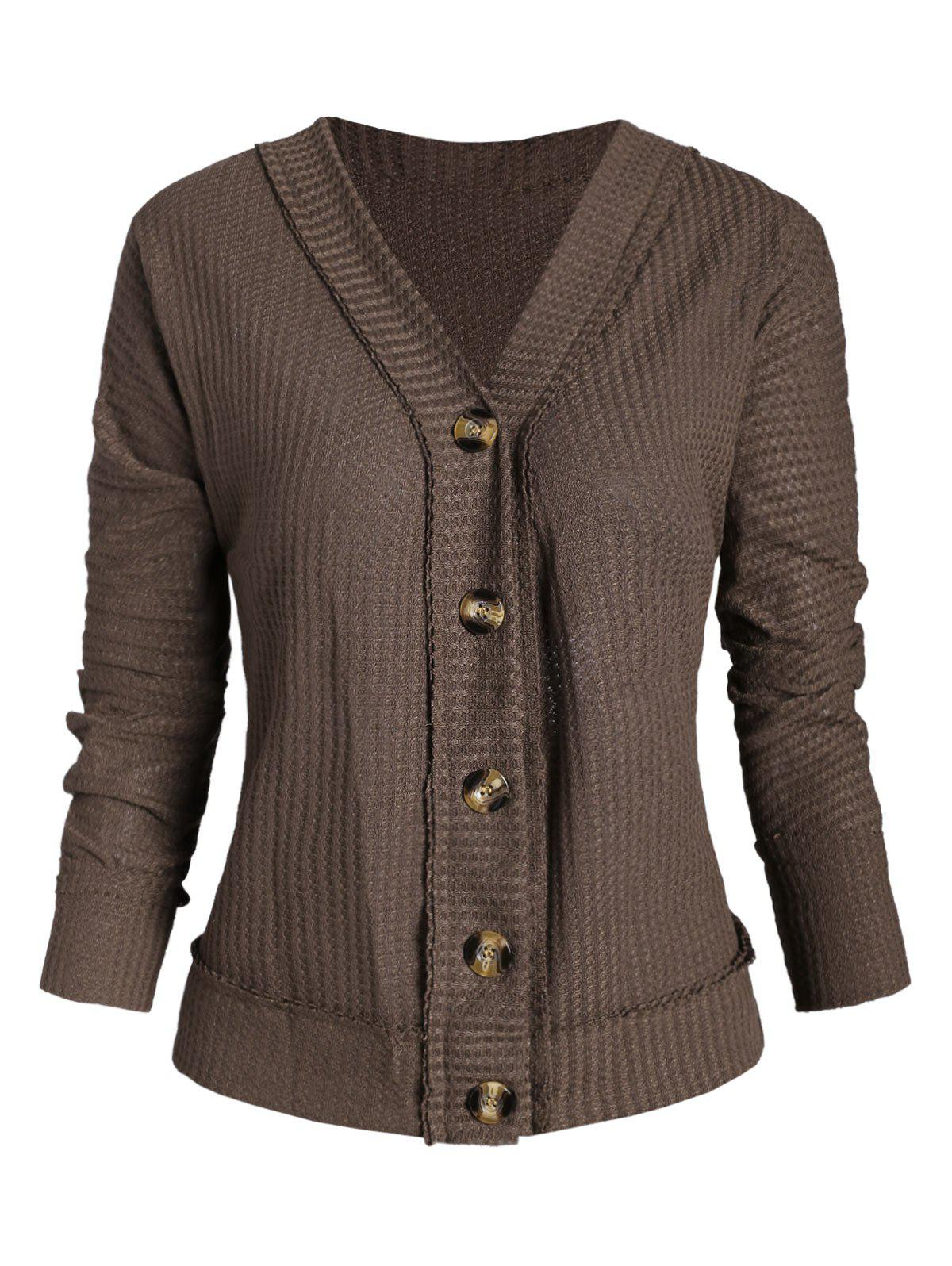 Hot Plunge Batwing Sleeve Knitted Cardigan