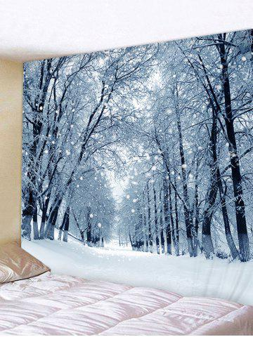 Tapestry   Forest   Decor   Print   Snow   Road   Hang   Wall   Art