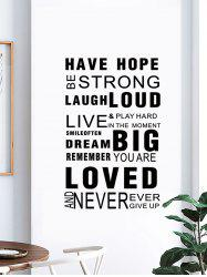 Proverbs Letters Print Decorative Wall Art Stickers -