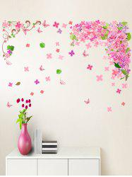 Flowers and Butterflies Print Decorative Wall Art Stickers -