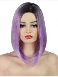 Side Part Straight Synthetic Long Ombre Wig -