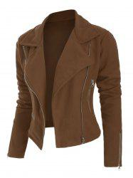 Plus Size Fit Jacket Zippered Slim -