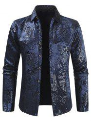 Dragon Cloud Jacquard Button Fleece Shirt -