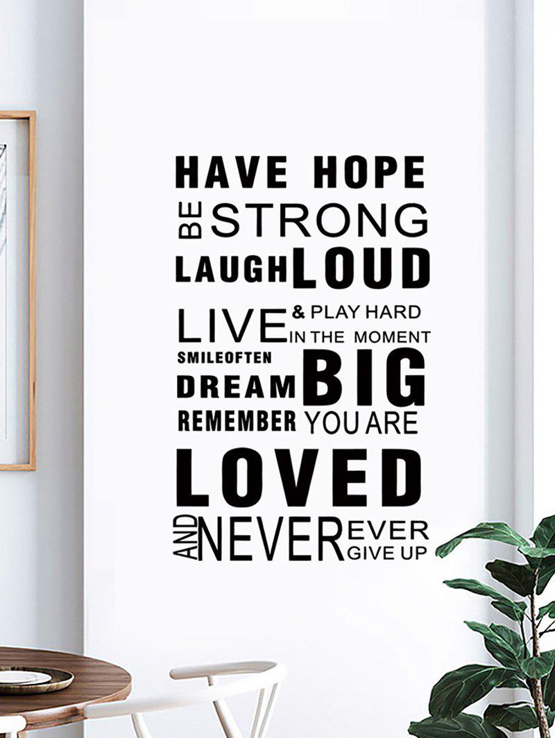 Discount Proverbs Letters Print Decorative Wall Art Stickers