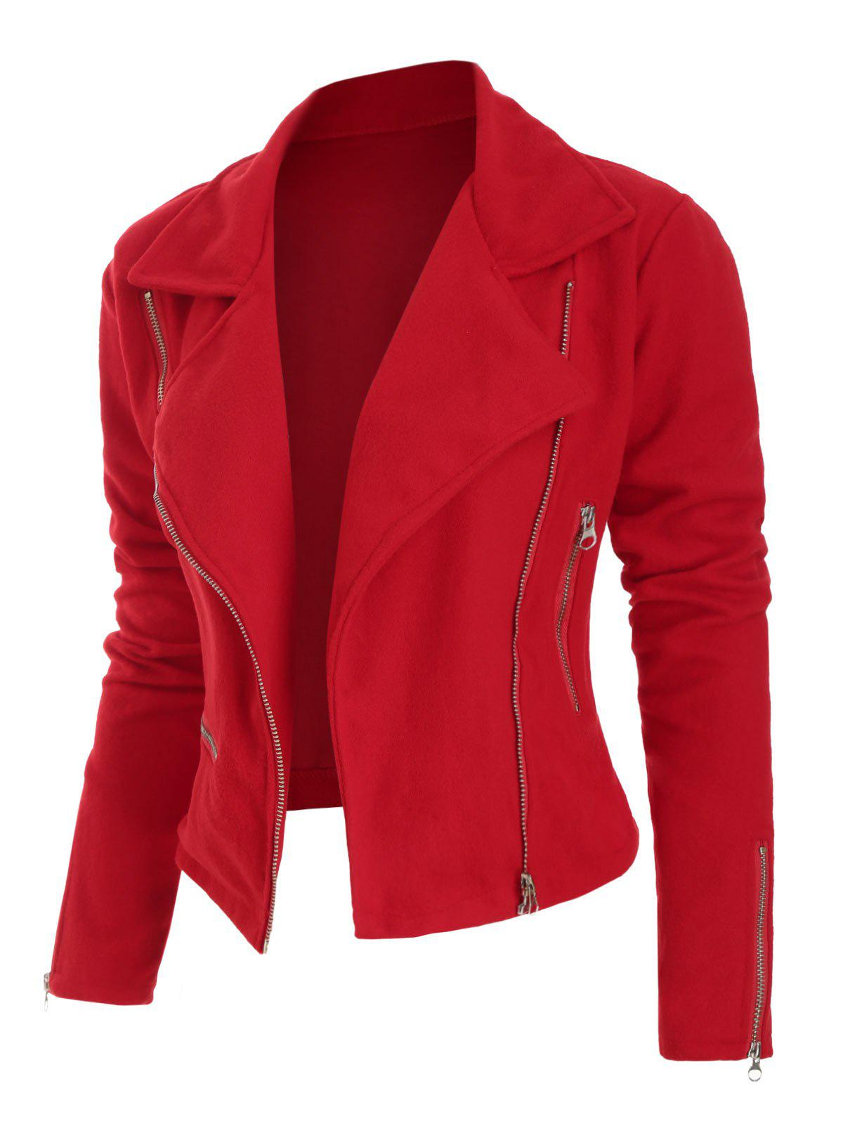 Outfit Plus Size Zippered Slim Fit Jacket
