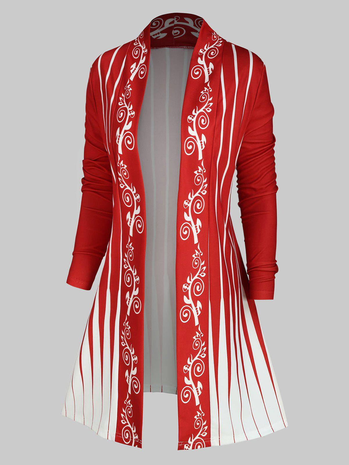 Shop Plus Size Printed Longline Cardigan