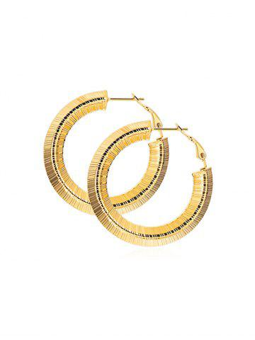 Striped Design Alloy Hoop Earrings