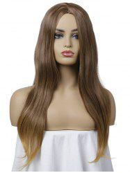Long Synthetic Center Part Straight Wig -