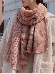 Winter Knitting Solid Long Scarf -
