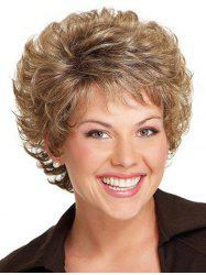 Short Curly Free Part Synthetic Wig -