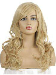 Synthetic Long Side Part Body Wave Wig -