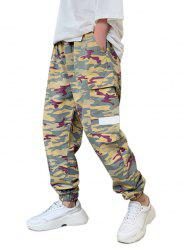 Camo Print Multi Pockets Cargo Pants -