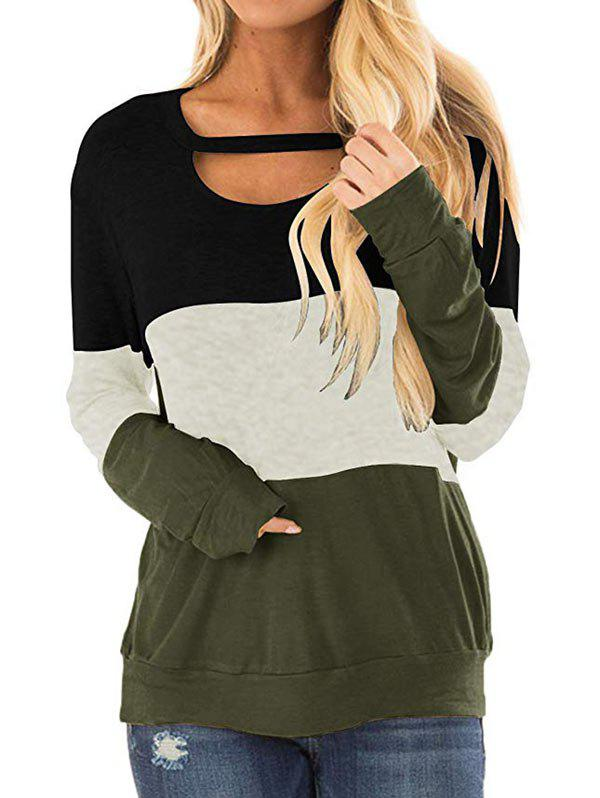 Best Three Tone Cut Out Longline Sweatshirt