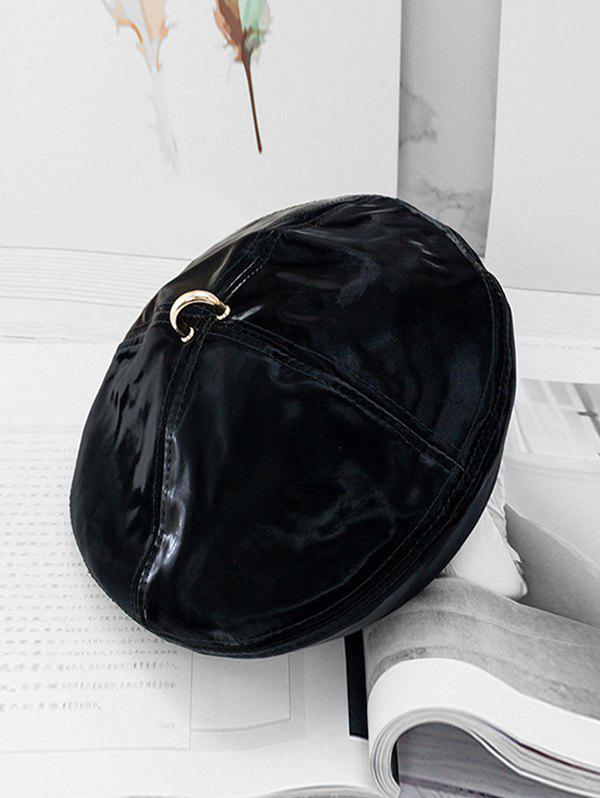 Fancy Ring Decorate Solid Beret Hat