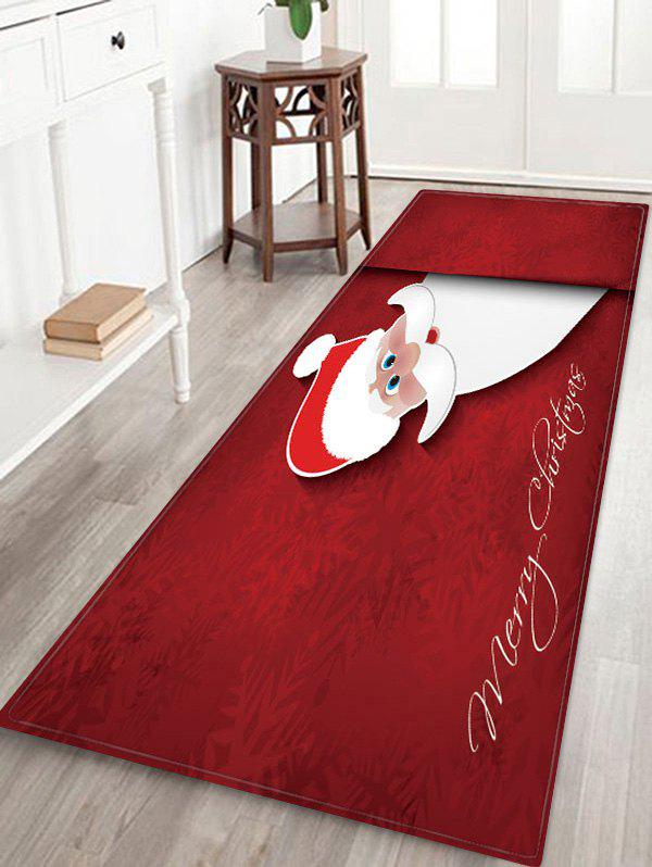 Affordable Merry Christmas Santa Claus Pattern Floor Rug