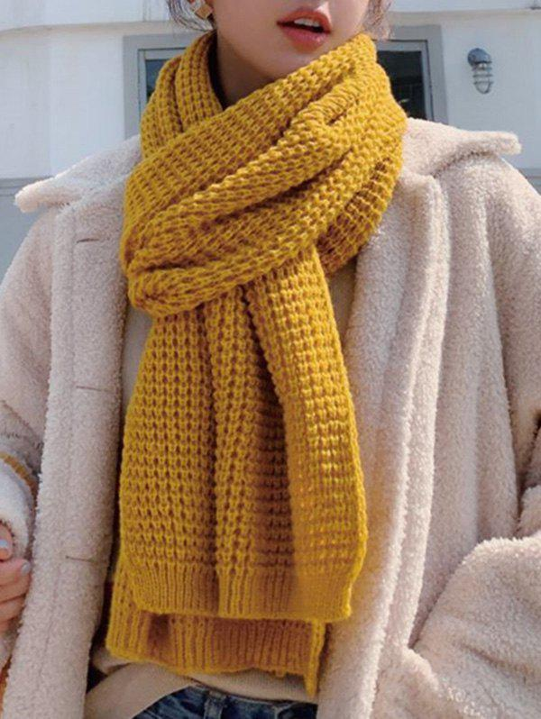 Chic Winter Knitting Solid Long Scarf
