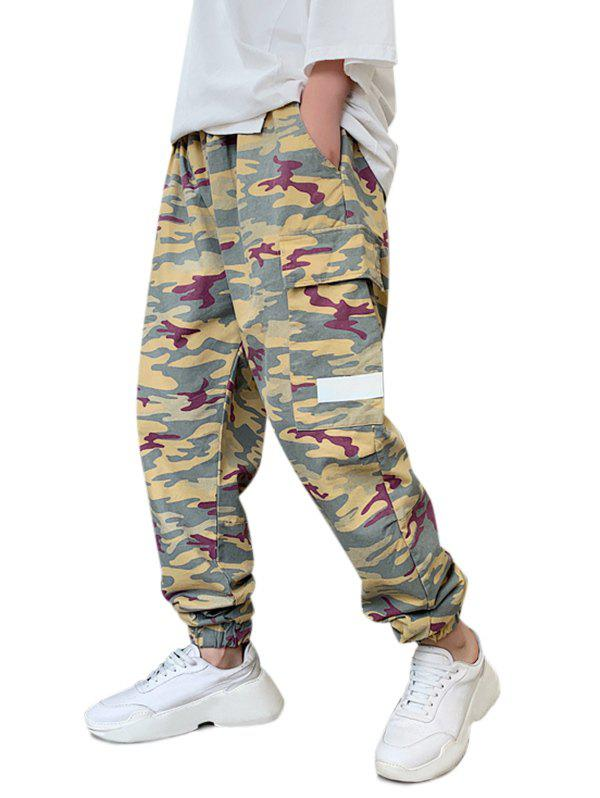 Affordable Camo Print Multi Pockets Cargo Pants