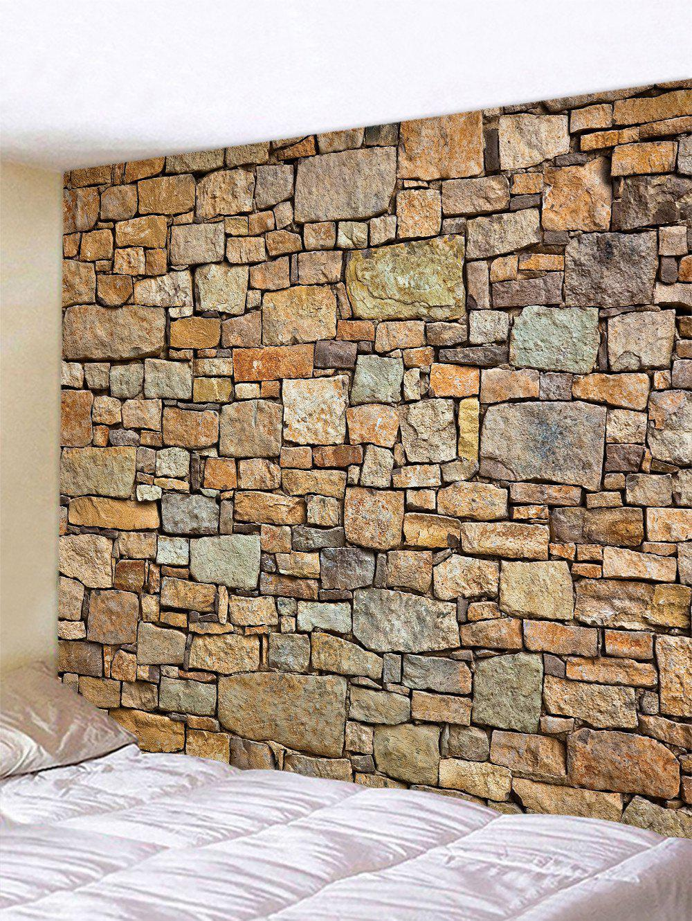 Unique Stone Wall Pattern Tapestry