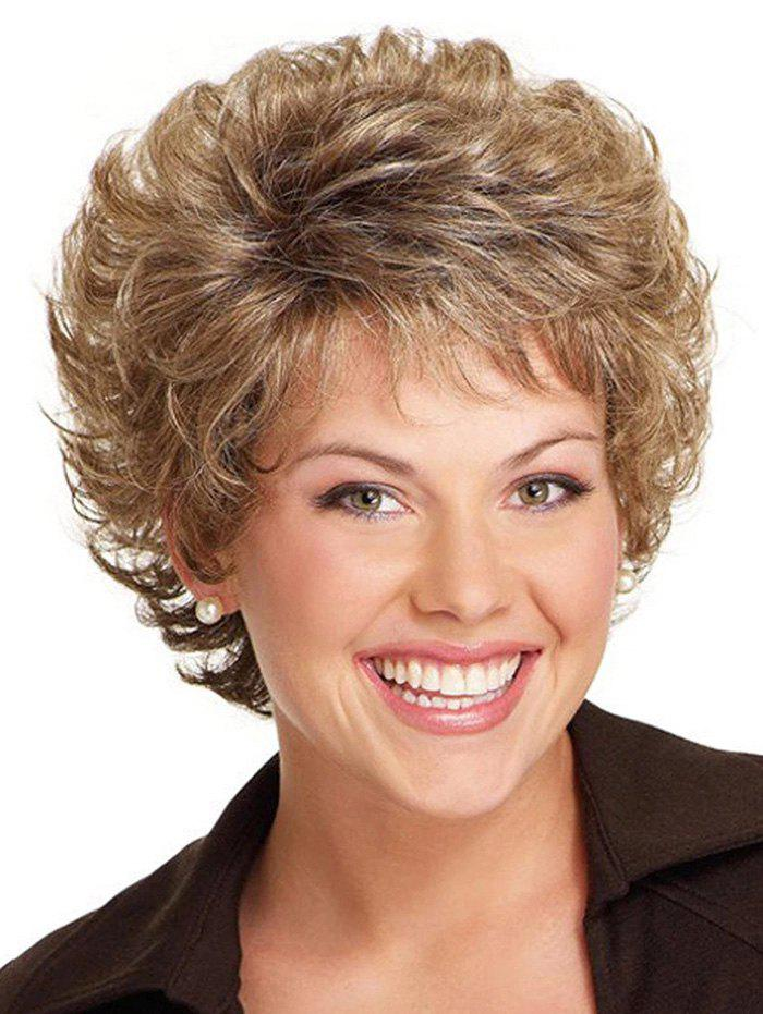 Shops Short Curly Free Part Synthetic Wig
