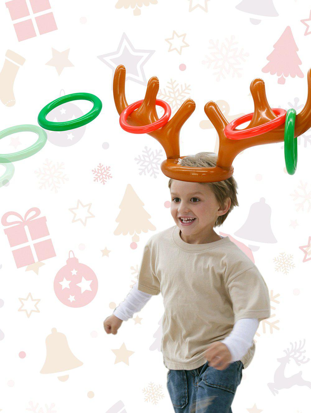 Outfit Christmas Party Accessories Inflatable Antler Hat Balloon