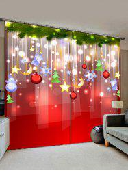 Christmas Star Pattern Window Curtains -