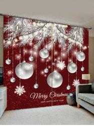 Christmas Snowflake Ball Pattern Window Curtains -
