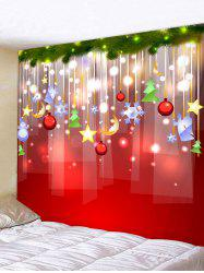 Christmas Decoration Print Wall Tapestry -