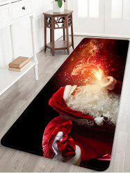 Christmas Santa Claus Patterned Water Absorption Area Rug -