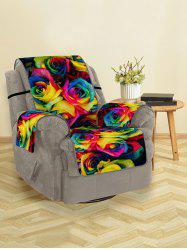 Colorful Rose Flowers Pattern Couch Cover -