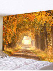 Autumn Tree Leaves 3D Print Wall Tapestry -