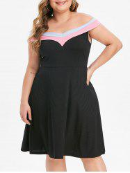 Plus Size Off The Shoulder Evening Dress -