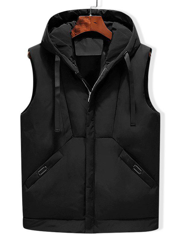 Affordable Solid Hooded Quilted Waistcoat