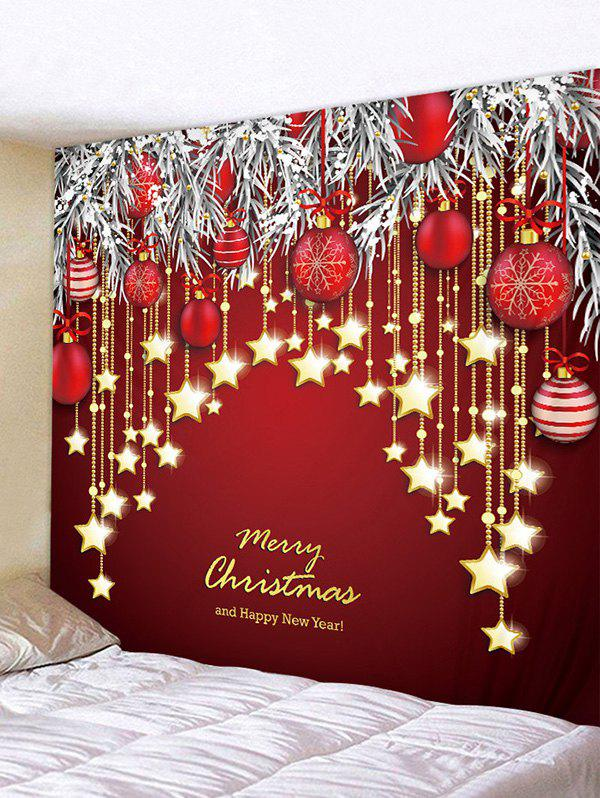 Outfit Christmas Balls Stars Greeting Print Tapestry Wall Hanging Art Decoration