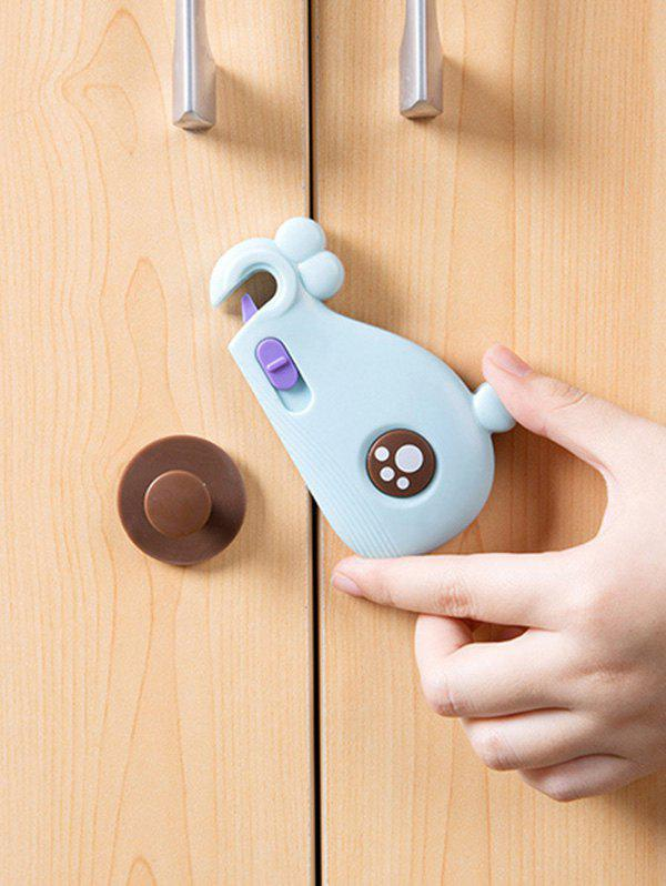 Fashion Cartoon Whale Shape Multi-purpose Baby Safety Drawer Door Lock Buckle Protection