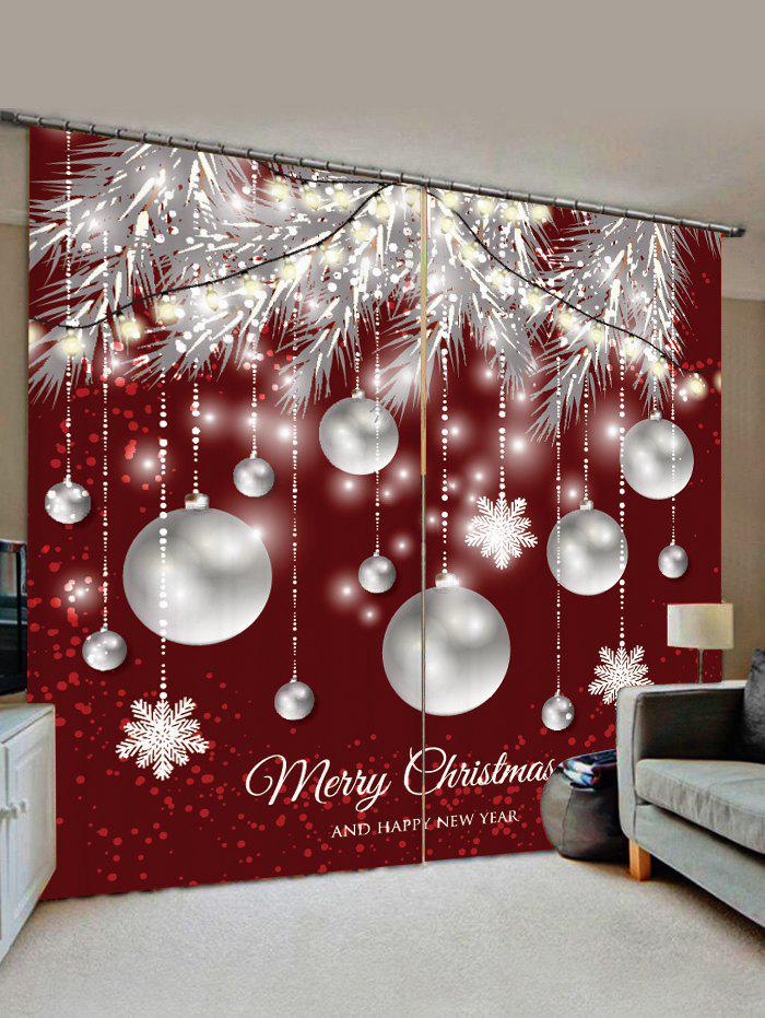 Shop Christmas Snowflake Ball Pattern Window Curtains