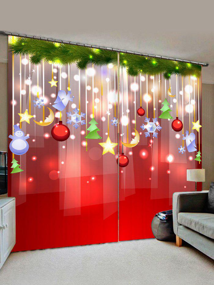 Fashion Christmas Star Pattern Window Curtains