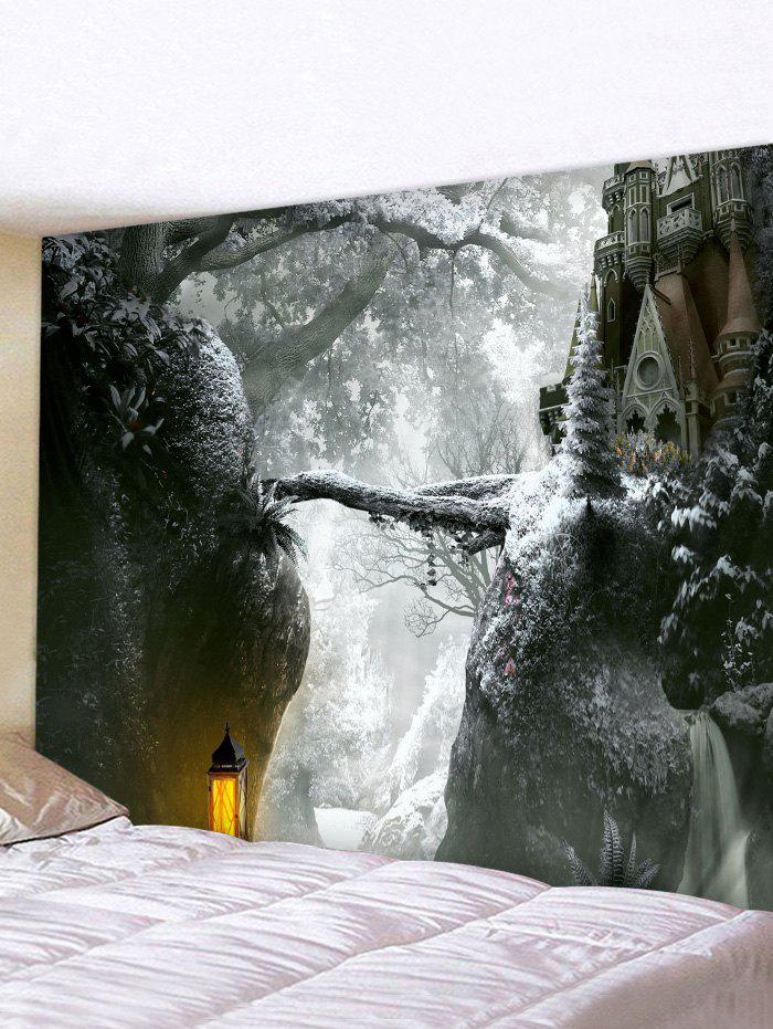 Shop Christmas Castle Forest Print Tapestry Wall Hanging Art Decoration