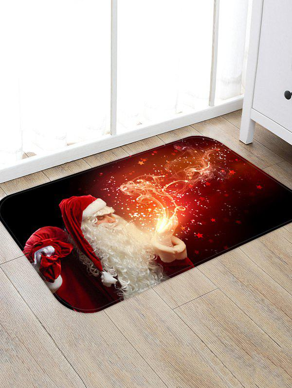 Trendy Christmas Santa Claus Patterned Water Absorption Area Rug