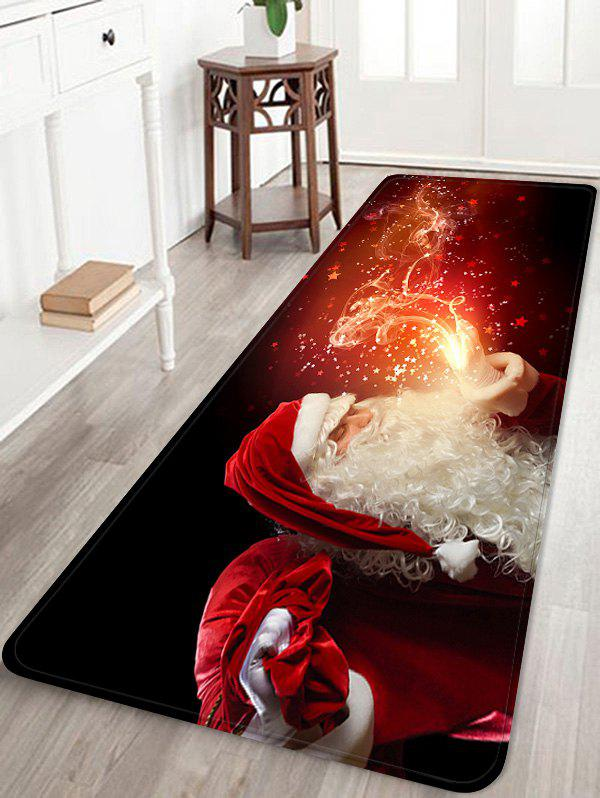 Sale Christmas Santa Claus Patterned Water Absorption Area Rug