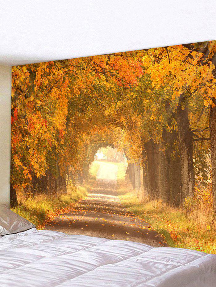 Cheap Autumn Tree Leaves 3D Print Wall Tapestry