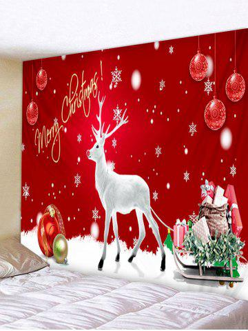 Christmas Balls Deer Sleigh Print Tapestry Wall Hanging Art Decoration - from $12.95