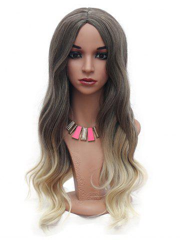 Long Body Wave Ombre Synthetic Center Part Wig