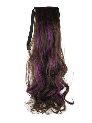 Long Highlights Body Wave Ombre Synthetic Lace-up Hair Piece