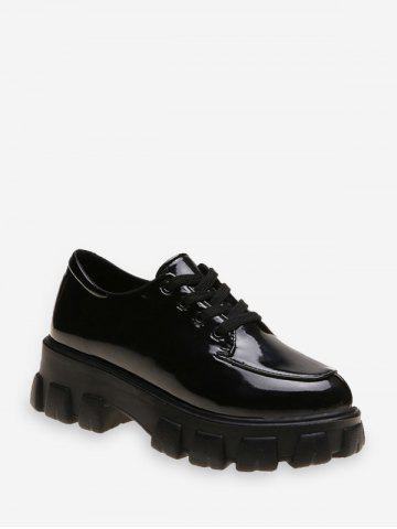 Patent Leather Low Top Platform Boots