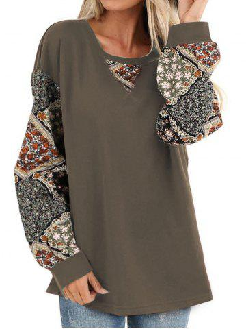 Sweat-shirt Tunique Fleuri Imprimé