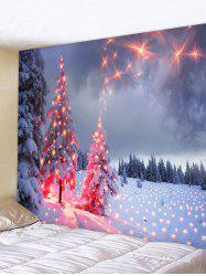 Christmas Snow Firework Tapestry -